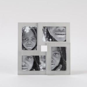 Portafotos aluminio 4 fotos