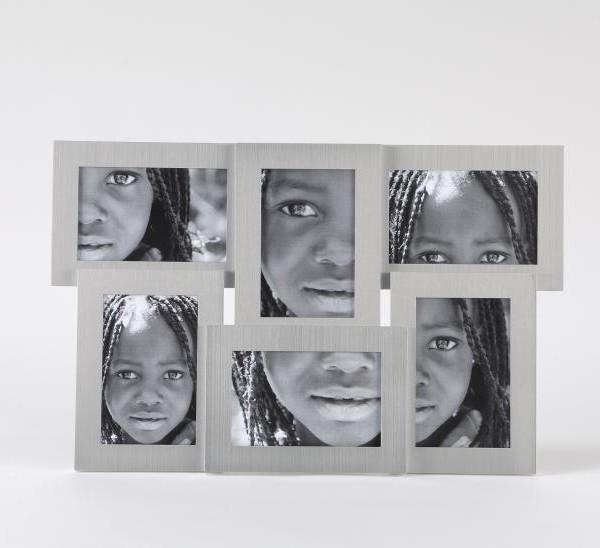 Portafotos plateado 6 Fotos