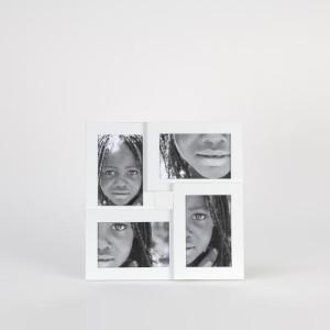 Portafotos blanco 4 fotos