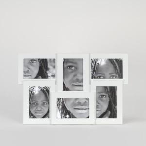 Portafotos 6 fotos blanco
