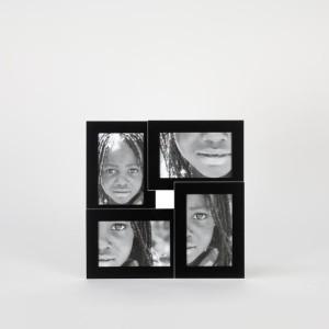 Portafotos 4 fotos negro