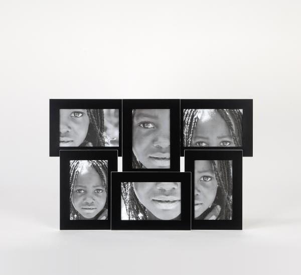 Portafotos 6 fotos negro