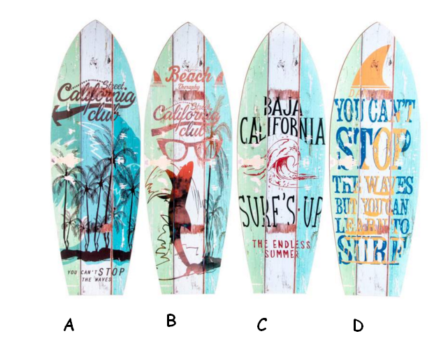 CUADRO MADERA TABLA SURF